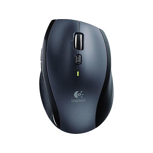 Logitech Marathon Wireless Laser Mouse, Charcoal