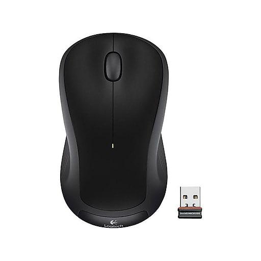 Logitech M325 Wireless Ambidextrous Mouse, Black