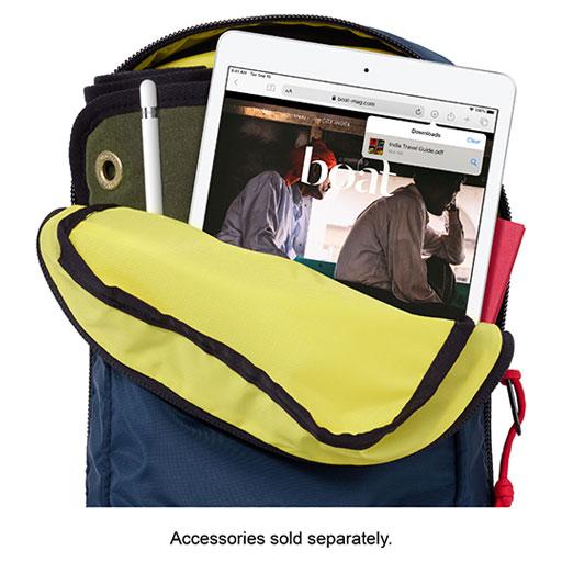 iPad in backpack